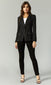 black fitted chic blazer
