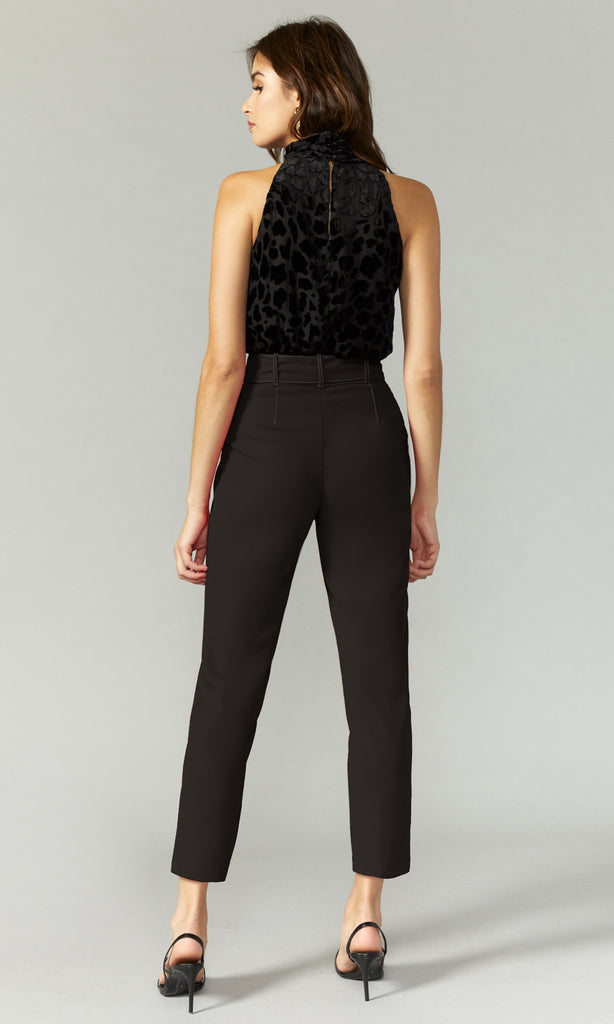 Reagan Top Stitched Belted Trouser