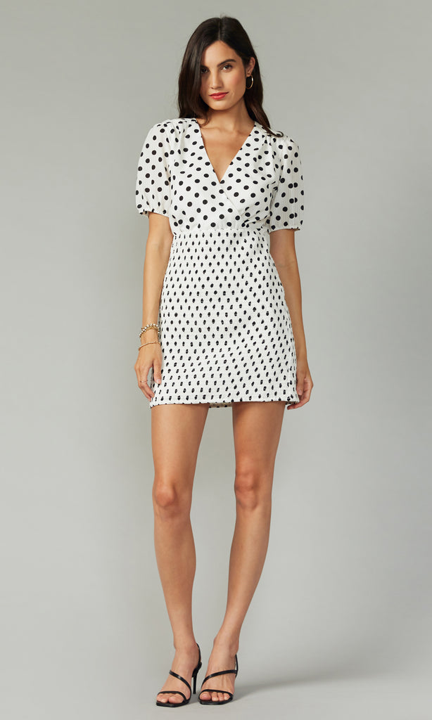 Shirley Smocked Polkadot Dress