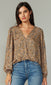 Mattie Cross Front Blouse
