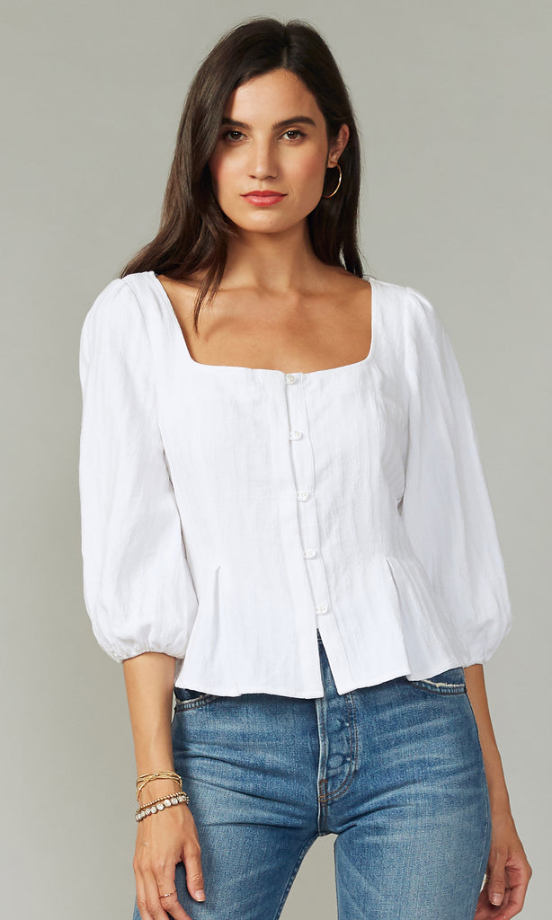 Marla Square Neck Textured Top