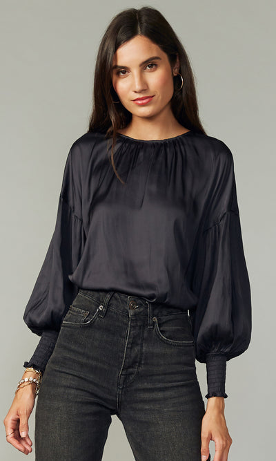 Eliza Smocked Cuff Blouse