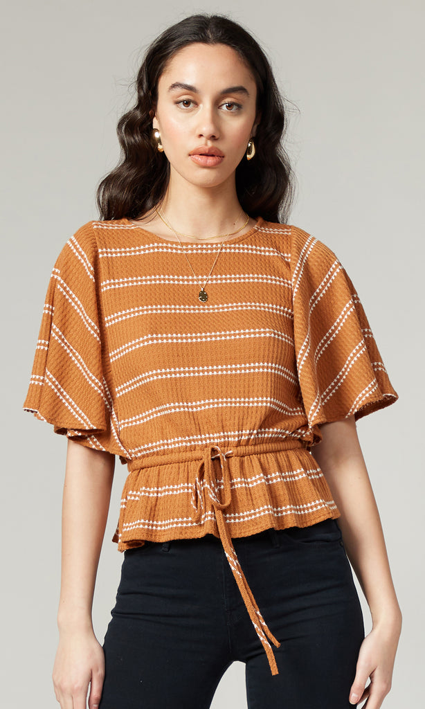 Rena Waffle Knit Top