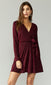 Patricia Crinkled Velvet Tie Front Dress