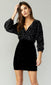 Hailie Burnout Velvet Blouson Gathered Dress