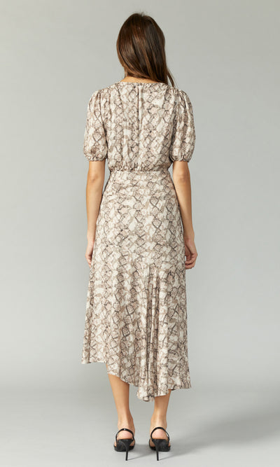 Isabella Snake Print Maxi Dress