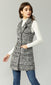 houndstooth tweed vest dress