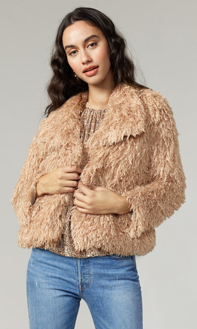 Pamela Faux Fur Feathery Jacket