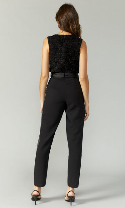 Besley Ribbon Knit Crepe Jumpsuit