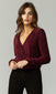 women's burgunday velvet nye blouse