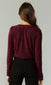 Aria Crinkled Velvet Cross Front Blouse