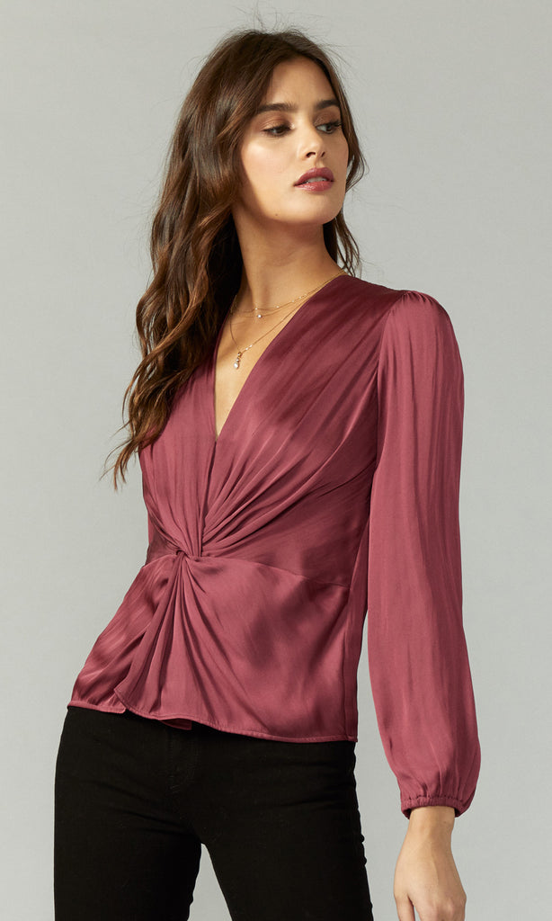 Lancy Twist Front Blouse