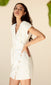 white button up wrap dress