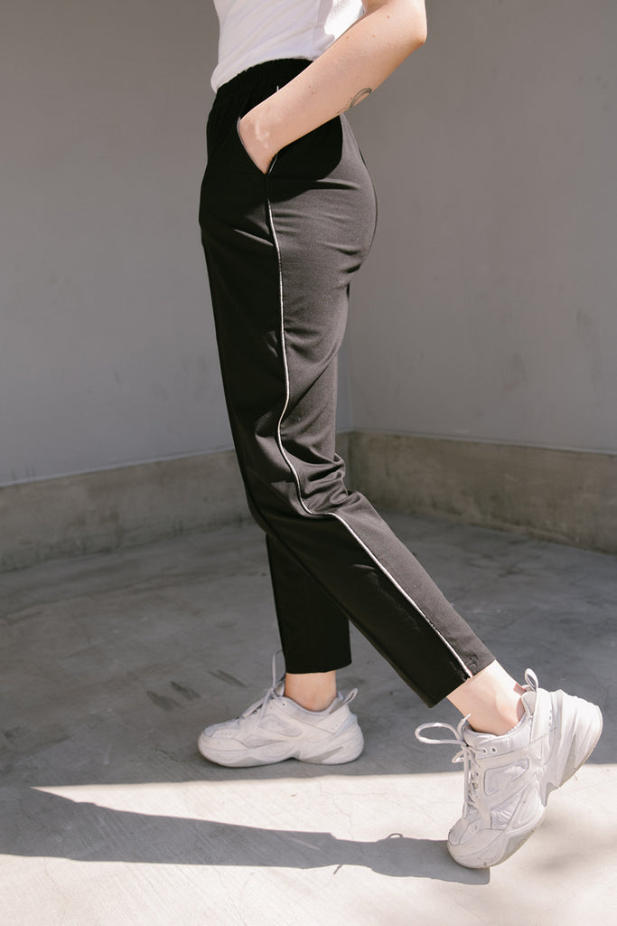 Nolen Side Trim Ponti Stretch Track Pants