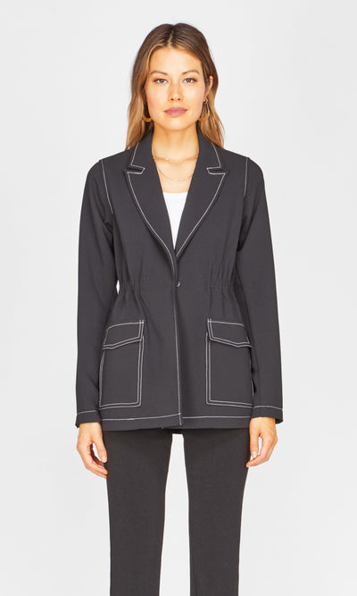 Isa Contrast Stitch Jacket