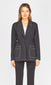women's black contrast stitch jacket
