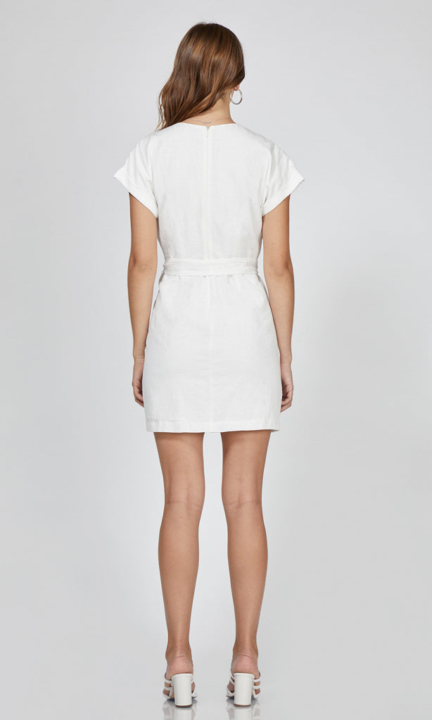 women's white short sleeve dress