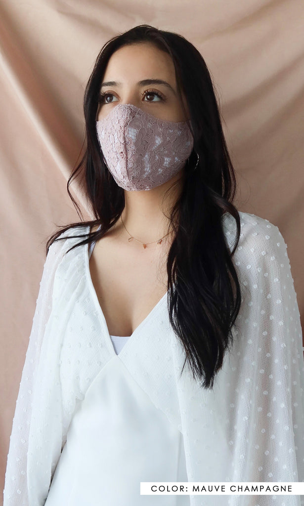 Reusable Luxe Lace Face Mask - The Sophia Mask