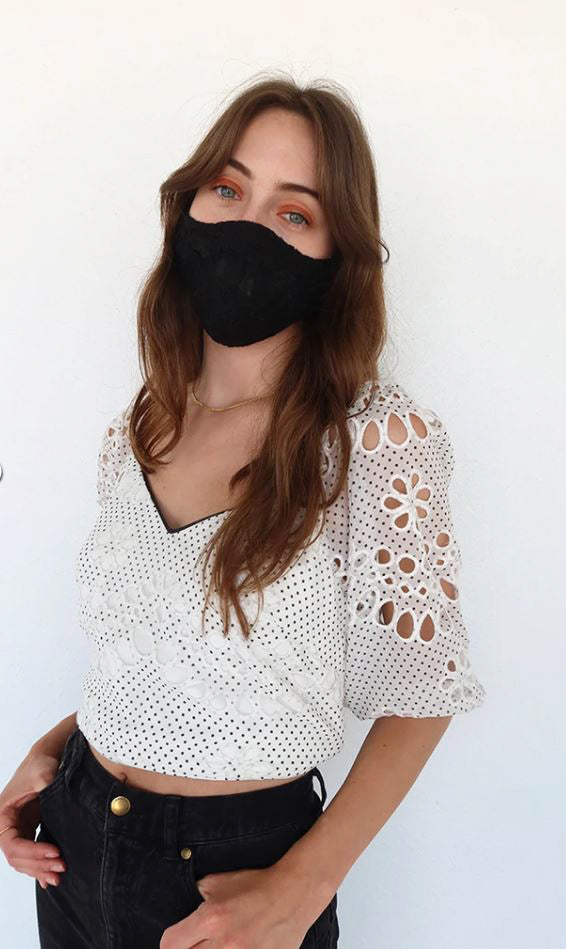 Greylin X Adelyn rae Lace Reusable Face Mask