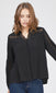 women's black long sleeve blouse