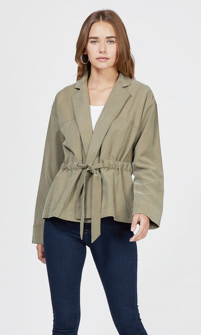 Hazel Cinch Tie Jacket