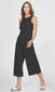 women's black sleeveless wide leg jumpsuit