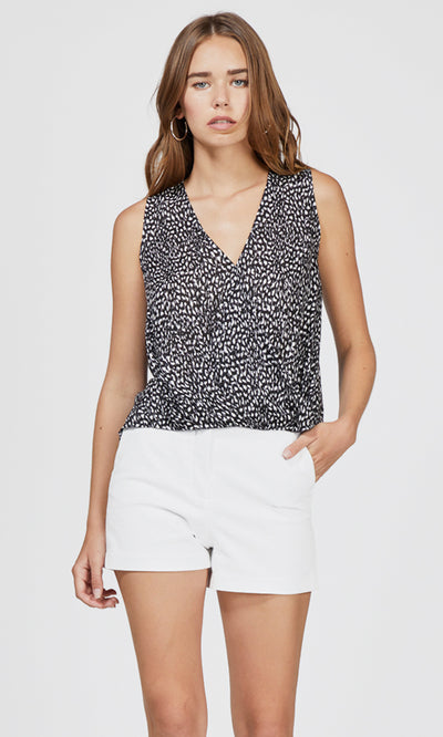 Mason Animal Print Wrap Top