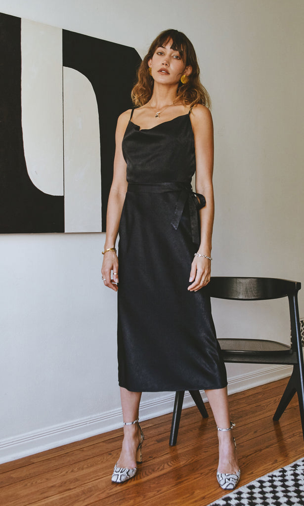 Keva Cowl Neck Slip Dress