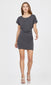 Women's knot waist charcoal dress
