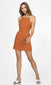 women's orange pinstripe dress