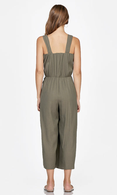 women's olive green jumpsuit