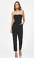 black strapless jumpsuit tight leg