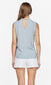 women's light blue sleeveless top