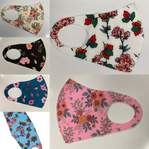 Floral Adult Face Mask in a Variety of Colors