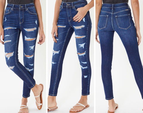 "KanCan ""Annie"" High Rise Destroyed Ankle Skinny Jeans"