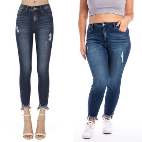 "Regular and Curvy KanCan Ankle Skinny Jeans ""Amelia"""