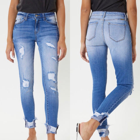 "KanCan ""Zena"" High Rise Distressed Skinny Jeans"