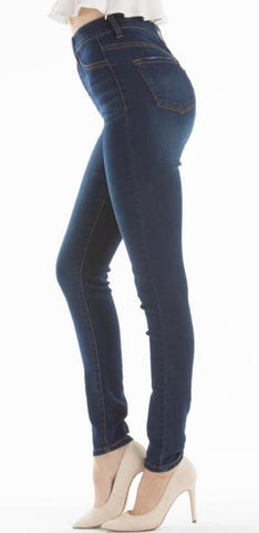 "KanCan High Wasted Non Distressed Ankle Jean ""Treva"""