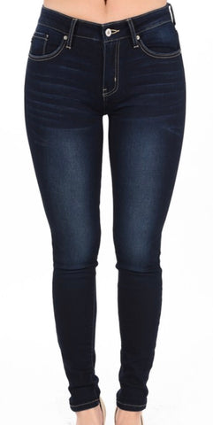"KanCan Dark Jeans ""HOLLY"" Non Distressed"