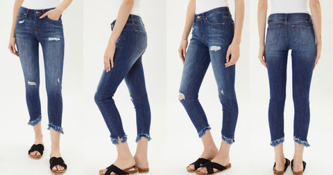 "KanCan ""Mia"" Mid Rise Ankle Skinny Jeans"