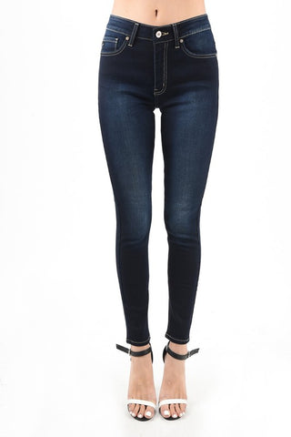 "KanCan Ankle Skinny Jeans ""Isabella"" Non-Distressed DARK"