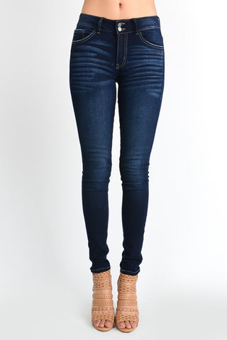 "KanCan Jeans ""Lauren"" Double Button Non Distressed Jeans"