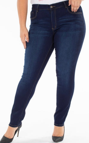 "Curvy KanCan Non Distressed Jeans ""Kendal"""