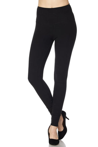 Regular and Curvy 5 INCH Wide Waistband Leggings