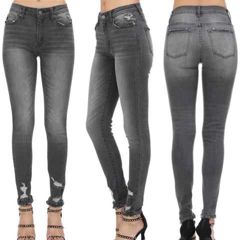 Regular & Curvy Grey KanCan Skinny Jeans
