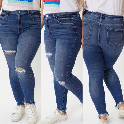 "Curvy Kancan Distressed Jeans ""Maddy"""
