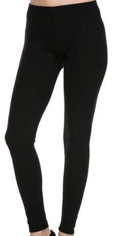 Regular and Curvy Black Leggings-Original Waistband