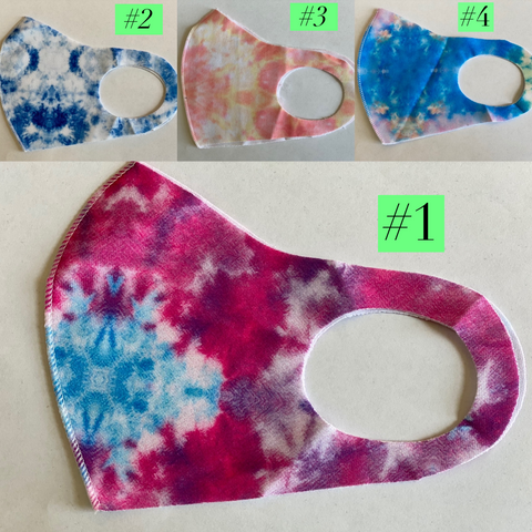 Tie Dye KIDS Face Mask in a Variety of Colors