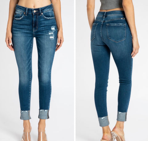 "KanCan ""Harlow"" Skinny Cuffed Jeans"