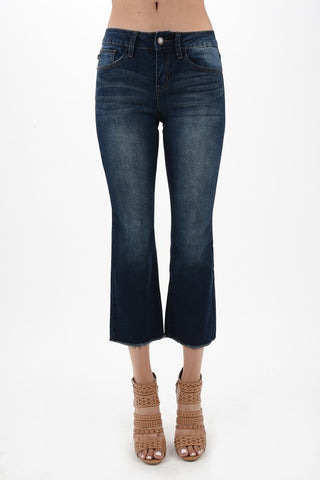 Judy Blue Brand Dark Denim Capris Non Distressed